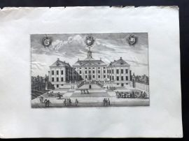 Dahlberg Sweden C1690's Folio Architectural Print. Oorby